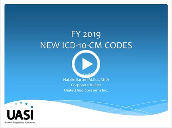 FY2019 ICD-10-CM Code Updates